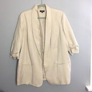 PREMISE beige blazer with 3/4 sleeves
